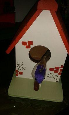 Casinha de passarinho decorativa
