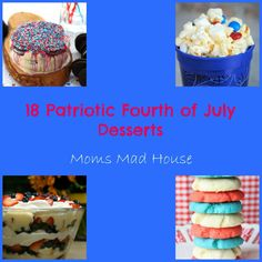 18 July Fourth Desserts - Mom's Madhouse