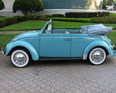 "Volkswagon Beetle - 1964 Convertible - My dream ""summer"" car. Imagine it peal pink with white leather interior and a white flop top!!"