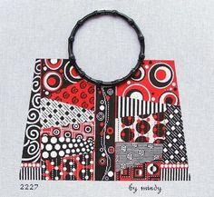 Red, Black & White Purse M2227 Mindy