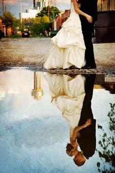 Beautiful wedding reflection