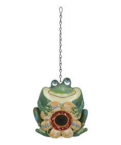 This Frog 'Faith Hope Love' Flower Birdhouse by UMA Enterprises is perfect! #zulilyfinds