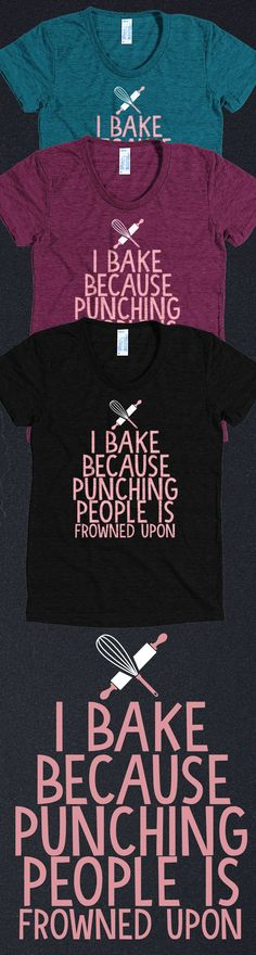 Love baking?! Check out this awesome baking t-shirt you will not find anywhere else. Not sold in stores and only 2 days left for free shipping! Grab yours or gift it to a friend, you will both love it https://teespring.com/I-Bake-2?pr=FREE&cid=2325&sid=front