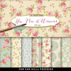 New Freebies Kit of Backgrounds - Un Peu d'Amour