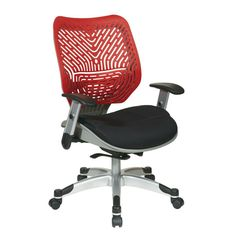 Revv Red SpaceFlex Self Adjusting Manager Office Chair Gray/Black/Red  sc 1 st  Pinterest & Love Love Love the Wobble Chair! Saved me after working in the yard ...