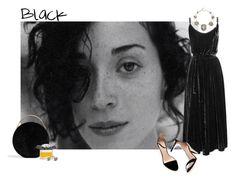 """Black"" by fufuun ❤ liked on Polyvore featuring Undress, Eddie Borgo, Zara, Chloé and Erickson Beamon"