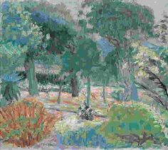 Garden in Southern France    -  Pierre Bonnard French 1867-1947Post-impressionism