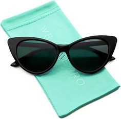 9f92ba13c007b Amazon.com  Vintage Inspired Fashion Mod Chic High Pointed Cat Eye  Sunglasses for Women