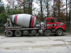 KENWORTH - Thomas Concrete Ready Mixed Concrete, Mix Concrete, Cement Mixer Truck, Model Truck Kits, Oil Platform, Concrete Mixers, Heavy Duty Trucks, Heavy Machinery, Vintage Trucks