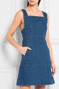 KÉJI | Square denim mini dress | NET-A-PORTER.COM