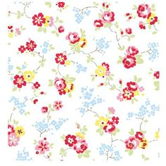 Cath Kidston- Chintz Wallpaper this is such a nice pattern for wallpaper!!! xoxo