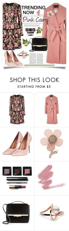 """""""Pink Coat"""" by judysingley-polyvore ❤ liked on Polyvore featuring Needle & Thread, River Island, Topshop, Miss Selfridge, Bobbi Brown Cosmetics and Eddie Borgo"""