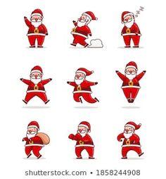 Stock Photo and Image Portfolio by Imajin No asking | Shutterstock Santa Cartoon, Royalty Free Stock Photos, Illustration, Artist, Cute, Fictional Characters, Image, Design, Artists