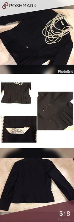 Vintage-Bonders Wool ICI Poland 🇵🇱 6 Navy Blazer Vintage Woman's 6 Bonders Wool ICI Made in Poland 🇵🇱 International Classic Navy Blazer ICI Poland International Classic Jackets & Coats Blazers