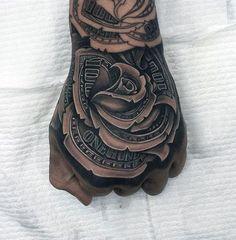 80 Money Rose Tattoo Designs For Men