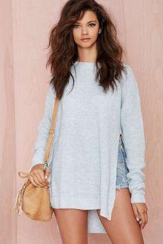 Seek Out Split Sides Sweater - Nasty Gal