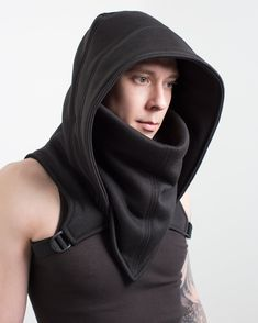 Crisiswear Sub Zero Outlaw – Hooded Cyberpunk Cowl Cold Weather Fully Adjustable Winter Headwear Black Gray Olive Fleece Style deep Neck Cyberpunk Mode, Cyberpunk Clothes, Cyberpunk Fashion, Dark Fashion, Winter Fashion, Mens Fashion, Steampunk Fashion, Gothic Fashion, Winter Headwear