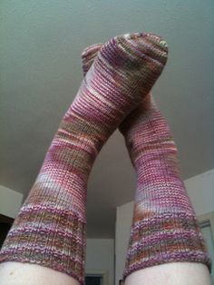 Knitting Pattern For Socks In The Round : 1000+ images about Crochet/knit--feet on Pinterest Slippers, Knit socks and...