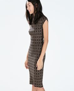$200 Outfit: JACQUARD DRESS WITH LOW BACK from Zara $79.90