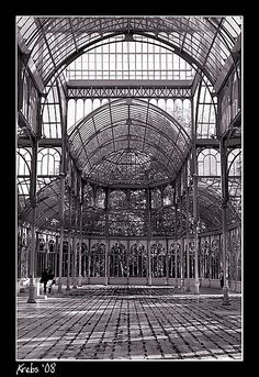 Palacio De Cristal in Madrid by sergcot, via Flickr. Created in 1887 to house exotic flora and fauna as part of an exhibition on the Philippines.