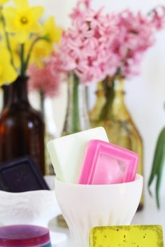 How To Make Soap by Apartment Therapy Tutorials - Just in time for #MothersDay and what a sweet treat for her!