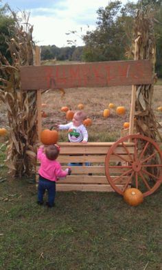 Oh you know, just working at the pumpkin stand :) Farm Backdrop, Small Pumpkins, Corn Maze, Masons, Photo Props, Backdrops, Celebration, Patches, Homemade