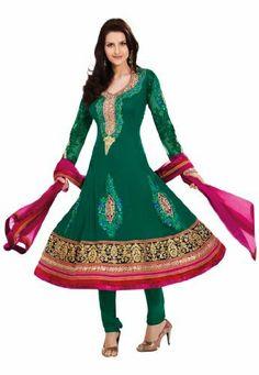 Fabdeal Women's Indian Designer Wear Embroidered Anarkali Suit Green Fabdeal, http://www.amazon.de/dp/B00GAPZ4IW/ref=cm_sw_r_pi_dp_e29otb1P80P1F