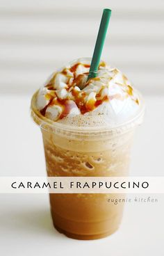 Forget about heading to Starbucks for coffee fix and make your own caramel Frappuccino at home! Eugenie Kitchen Forget about heading to Starbucks for coffee fix and make your own caramel Frappuccino at home! Starbucks Caramel Frappuccino, Starbucks Drinks, Caramel Frappe Recipe, How To Make Frappuccino, Carmel Frappe, Starbucks Coffee, Vanilla Bean Frappachino Starbucks, Frappachino Recipe, Carmel Coffee