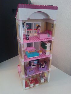 lego friends appartment backview