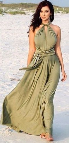 #summer #girly #outfitideas | Olive Maxi Dress