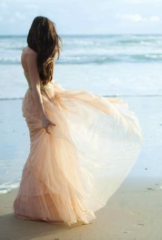 Long dress on the beach