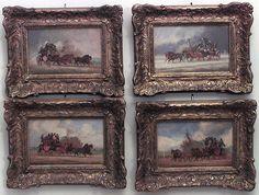 English Victorian picture genre scene oil