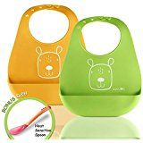 Amazon.com : Set Silicone Car Placemat and Matching Mommy and Baby Panda Bib Kids Babies Toddlers Meal Plate (Orange) : Baby