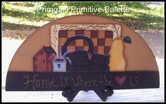Primitive Door Crown Wood Door Topper Game Board Saltbox House Swan Home Decor