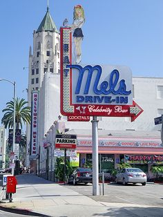 Mel's Drive In - on Highland south of Hollywood Blvd, Hollywood Heights, Los Angeles, California by Al_HikesAZ