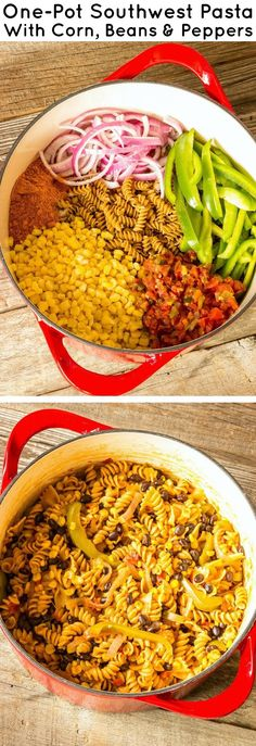 One-Pot Southwest Pasta with Corn, Beans & Peppers - Simple One-Pot Pastas