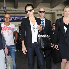 adriana lima airport outfit style