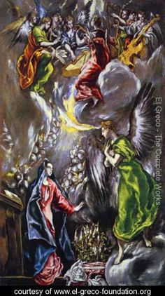 The Annunciation 1590s - El Greco (Domenikos Theotokopoulos) - www.el-greco-foundation.org