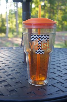 Personalized Chevron University of Tennessee Cup by 2BrokeTeachers, $18.00