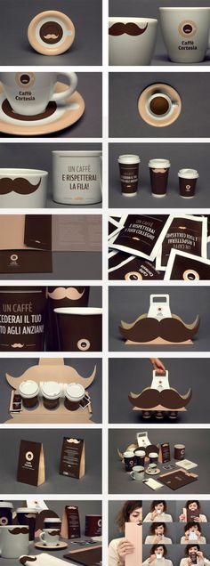 Taking the mustache campaign to the next level! Creative coffee packaging!