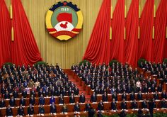 Xi Jinping, China's president, ninth from right in the second row, and  Li Keqiang, eighth from righ... - Tomohiro Ohsumi/Bloomberg