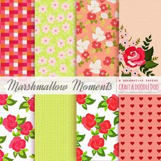 Freebie | Marshmallow Moments Printable Patterned Papers