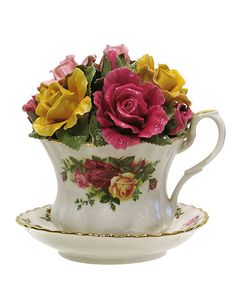 "Royal tea cup collections | Royal Albert ""Old Country Roses"" Musical Tea Cup - Collections - for ..."