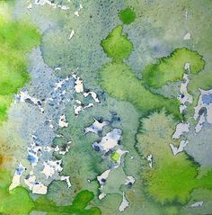 abstract nature paintings | Art: Watercolour abstract:..AFTER THE RAINSTORM...seen from a bird's ...