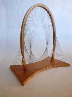 Balanced Arch x x Poplar, Plywood, Steel Cable Geometric Sculpture, Sculpture Art, Geodesic Sphere, Arch Model, Bridge Model, Pavillion, Paper Architecture, Bridge Design, Kinetic Art