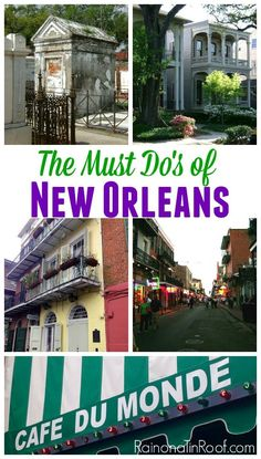 What to do in NOLA! Great suggestions! Amazing city full of fun! Must Do's in New Orleans