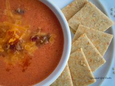 Fire Roasted Tomato Cheddar Chowder - Rich, Luscious & Low Carb / Gourmet Girl Cooks