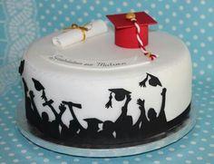 Matura abschluss Cake Decorating With Fondant, Cake Decorating Supplies, High School Graduation Gifts, Graduation Party Decor, Diy Cake, Marzipan, Diabetic Recipes, Beautiful Cakes, Cake Cookies