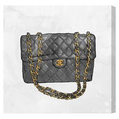 Canvas print with a Coco Chanel handbag motif. Made in the USA.     Product: Wall artConstruction Material: Canva...