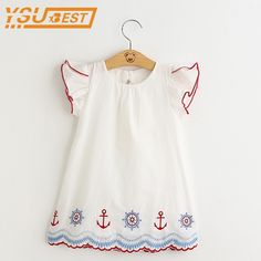 Baby Girls Dress 2017 Children Clothing Casual Style 2-9yrs Girls Clothes Embroidery Dress Kids Clothes Children Summer Dress
